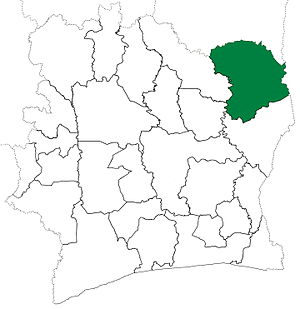 Bouna Department - Bouna Department upon its creation in 1974. It kept these boundaries until 2005, but other subdivision boundary changes  began to be made in 1980.