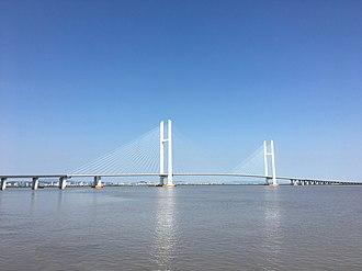 New Yalu River Bridge - New Yalu River Bridge in September 2016.