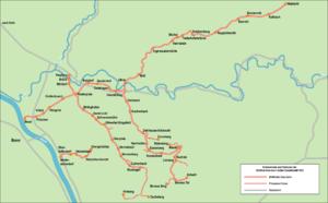 Bröl Valley Railway - Image: Bröltalbahn Strecken