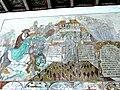 Brøns kirke - Wandmalerei - Jesus weist Papst zurück.jpg