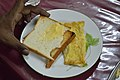Bread Butter and Omelette - Breakfast - Bengali Wikipedia 10th Anniversary Celebration - YWCA Guest House - Dhaka 2015-05-30 1424.JPG