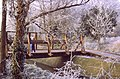 Bridge over the stream, Stanwell Moor in winter - geograph.org.uk - 96591.jpg