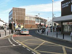 Bridgend, Junction of Brackla and Nolton Streets.jpg
