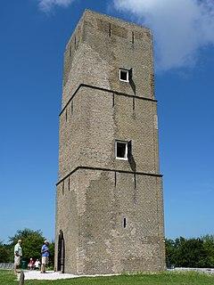 Stenen Baak lighthouse in Westvoorne, Netherlands
