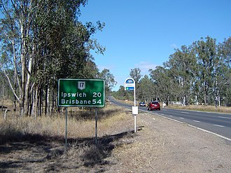 Brisbane Valley Highway - Image: Brisbane Valley Highway Wanora