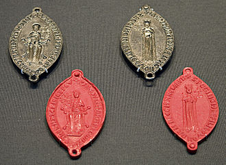 Joan of England, Queen of Sicily - A double seal of Joan's.