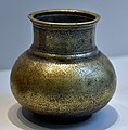 Bronze jug with Persian verses. Signed by Aladdin and Shamshaddin Mohammad al-Birgandi. Engraved and inlaid decoration. From Iran. Dated 910 AH (March 1505 CE). Islamic Art Museum (Museum für Islamische Kunst), Berlin, Germany.jpg