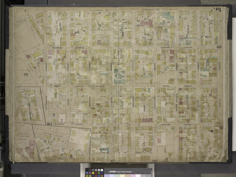 File:Brooklyn, Vol. 4, Double Page Plate No. 81; (Map bounded by Humboldt St., Herbert St., Meeker Ave., William St., North Henry St. (not opened), Richardson St., Humboldt St., Ainslie St., Leonard St; NYPL1695448.tiff