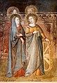 Bruno di giovanni, sante barbara e caterina d'alessandria, san giorgio, 1330 ca. 02.jpg
