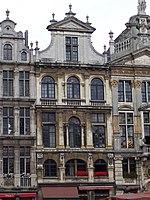 Un des lieux de séjour pendant l'exil. Maison dite Le Pigeon, à Bruxelles
