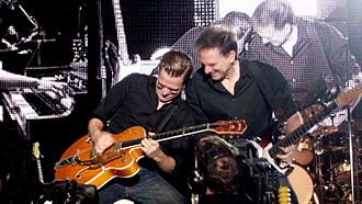 Bryan Adams - Adams and Keith Scott during their tour in Bangalore, India in 2011