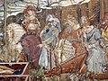 Buffalmacco, trionfo della morte, incontro dei tre vivi coi tre morti 04 cavalieri.JPG