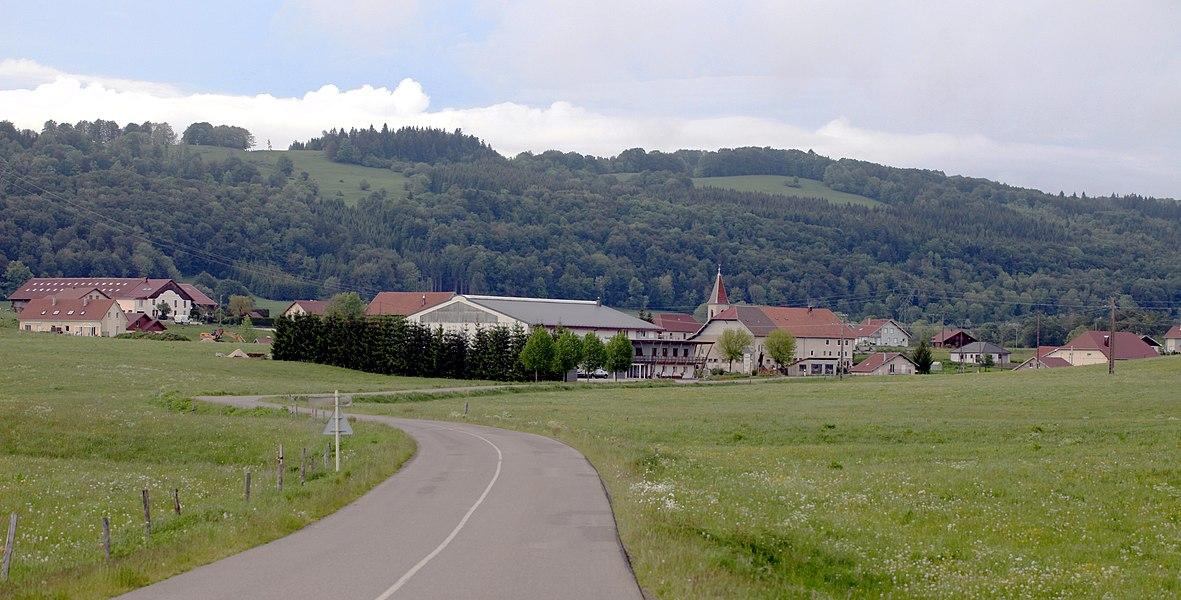 Vue de Bugny (Doubs).