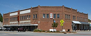 National Register of Historic Places listings in Candler County, Georgia - Image: Building in the Metter Downtown Historic Distric, Metter, GA, US