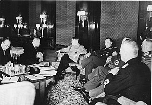 Emil Hácha - Hácha, Hitler and Göring meeting in Berlin, March 1939