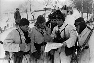 Latvian Auxiliary Police - Anti-partisan operation, March 1943.