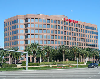 Burger King - Company headquarters in unincorporated Miami-Dade County, Florida