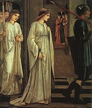 Painting of Julia as Princess Sabra being led to the dragon, by Burne-Jones