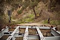Burned bridge, Gabrielino Trail, Altadena, Pasadena area, California 07.jpg