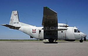 Mexican Naval Aviation - A Mexican Naval Air Force CASA C-212-400E Aviocar cargo plane in 2007