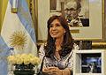 CFK viendo el lanzamiento del ARSAT-1 03.jpg