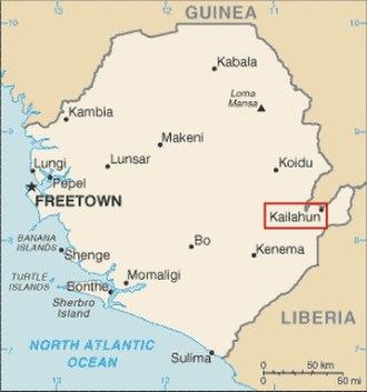 Kailahun - Image: CIA Sierra Leone Kailahun