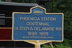 Phoenicia Railroad Station - Sign
