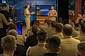 CNO and MCPON hold a live worldwide Navy all-hands call. (15292375777).jpg