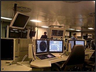Italian destroyer Caio Duilio - The Combat Information Centre.
