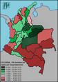 COLOMBIA - Departamentos por PIB Per Capita 2011 US$.png