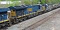CSX Transportation - 3271, 2426, 1006, & 2443 diesel locomotives (Marion, Ohio, USA) 1 (29352246428).jpg
