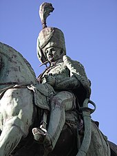 Detail of the equestrian statue