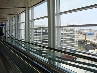 Dallas/Fort Worth International Airport - A passenger footbridge at terminal D.