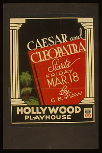 Caesar and Cleopatra, by G.B. Shaw ... Hollywood Playhouse LCCN96518431.jpg