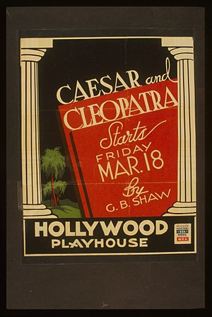 Caesar and Cleopatra (play) - Poster for a Federal Theatre Project production