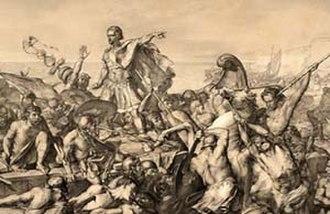 Edward Armitage - Caesar's first invasion of Britain, by Edward Armitage, c1843