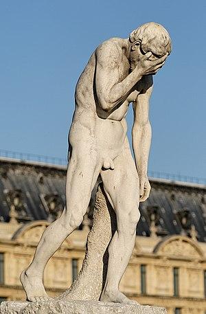 Curse and mark of Cain - Cain, by Henri Vidal, Jardin des Tuileries, Paris