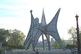 "Man, a ""stabile"" by Alexander Calder; Terre des Hommes (Expo 67 fairground), Saint Helen's Island, Montreal."