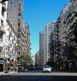 Avenida Callao street in Buenos Aires, Argentina