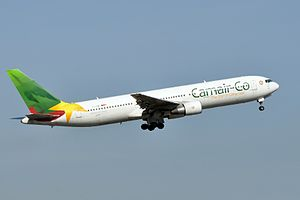 Camair Co. Boeing B767-33AER taking off at Paris-Charles de Gaulle Airport.jpg