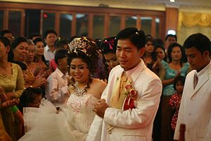 Courtship, marriage, and divorce in Cambodia - Image: Cambodia wedding