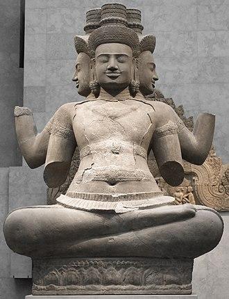 Religion in Cambodia - Brahma statue in Cambodia.