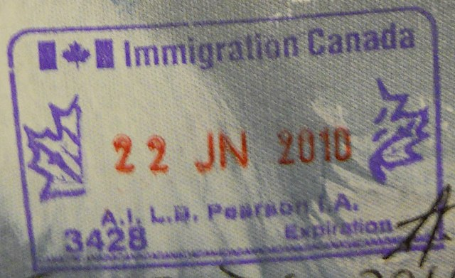 Canadian Immigration Stamp By Vampireshark (Own work) [CC0], via Wikimedia Commons