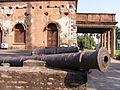 Canons placed beside the residency museum.JPG