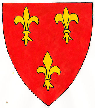 Ancient and modern arms - Cantilupe ancient: Gules, three fleurs-de-lis or