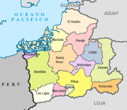 Cantons of El Oro Province