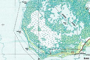 Cape Sable - USGS Topographical map of Cape Sable