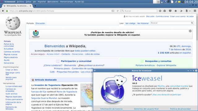 File:Captura de pantalla de Iceweasel 44 mostrando