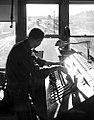 Car-Retarder Operator in Retarder Shack, Texas and Pacific Railway Company (15694415443).jpg