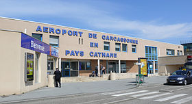 Façade de l'Aéroport de Carcassonne Salvaza (avant rénovation)
